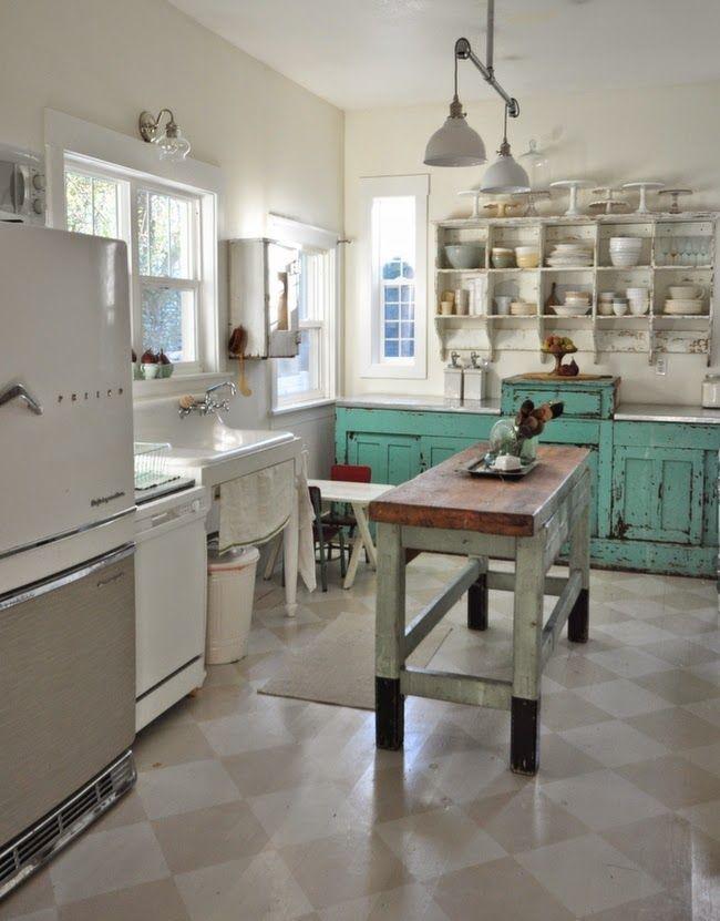 Lunes de inspiraci n cocinas de ensue o antigua madera - Cocinas de ensueno ...