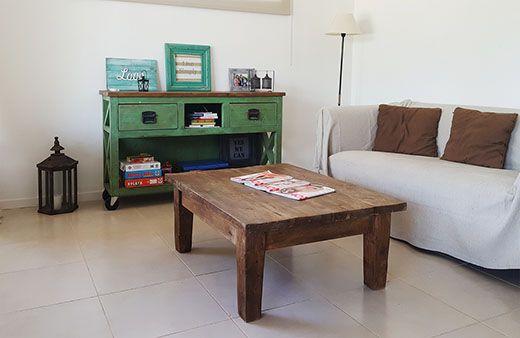 Mesa ratona rústica rectangular